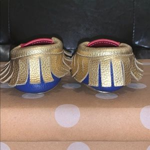 Tiny Heir Shoes - Tiny Hier Wonder Woman Leather Baby Moccasins
